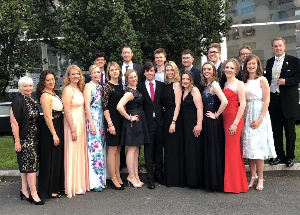 Mitglieder von WWR beim Galaball der DeuKo 2018